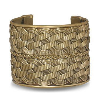"2"" Wide Woven Brass Cuff Fashion Bracelet Silver Castle Jewelry. $20.49. Approx. size 2"" wide. Brass cuff bracelet with double row weave design.. Save 54% Off!"