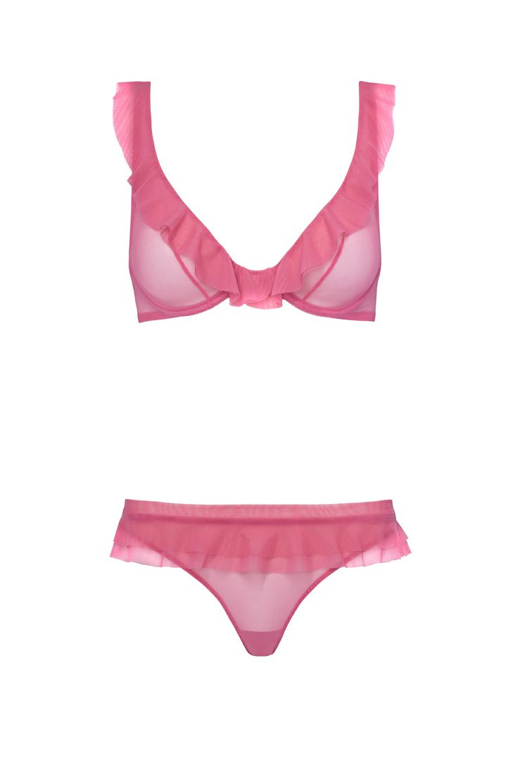 Just in is this stunning set from Chantal Thomass, perfectly pretty for Spring!
