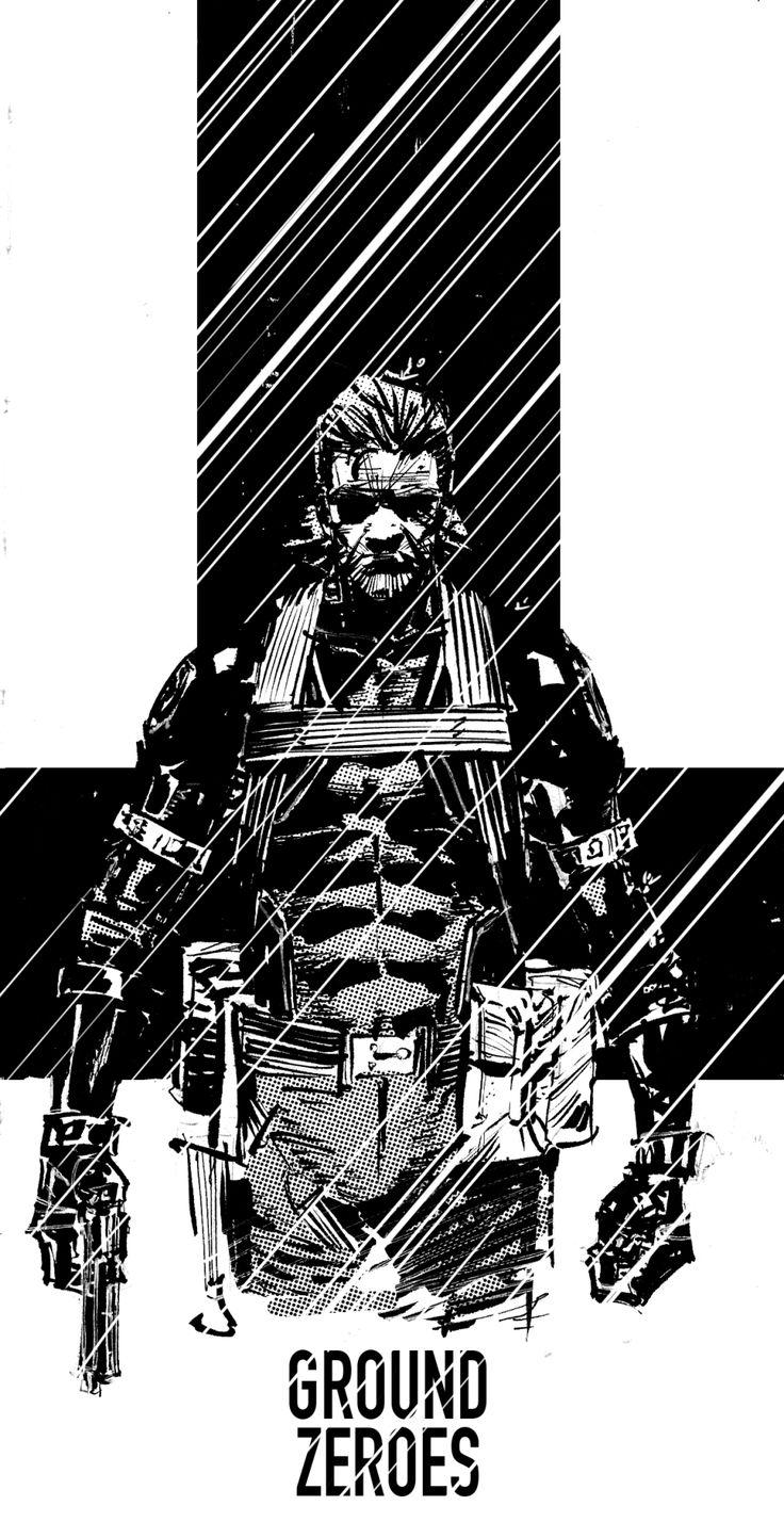 Big Boss - Metal Gear - Cleanlined