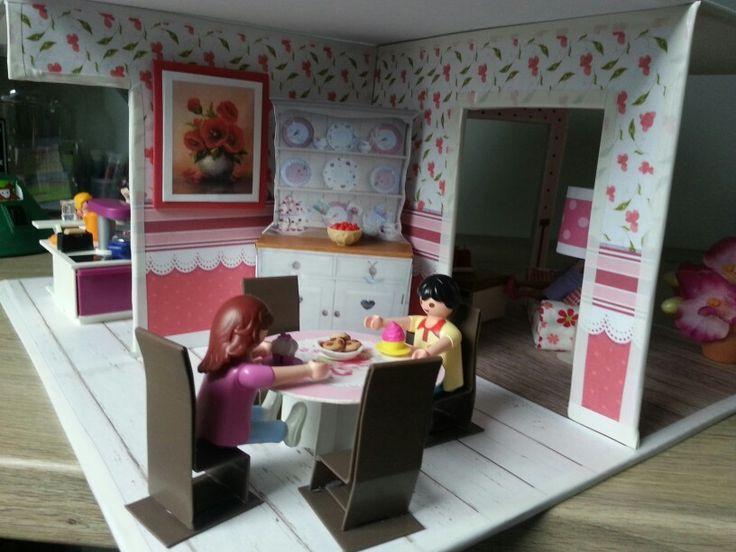 Les 133 meilleures images du tableau mes cr ations inspir for Salle manger playmobil