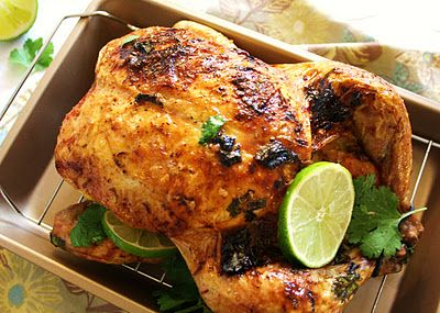 Roasted Coconut Curry Chicken with Ginger Lime and Cilantro