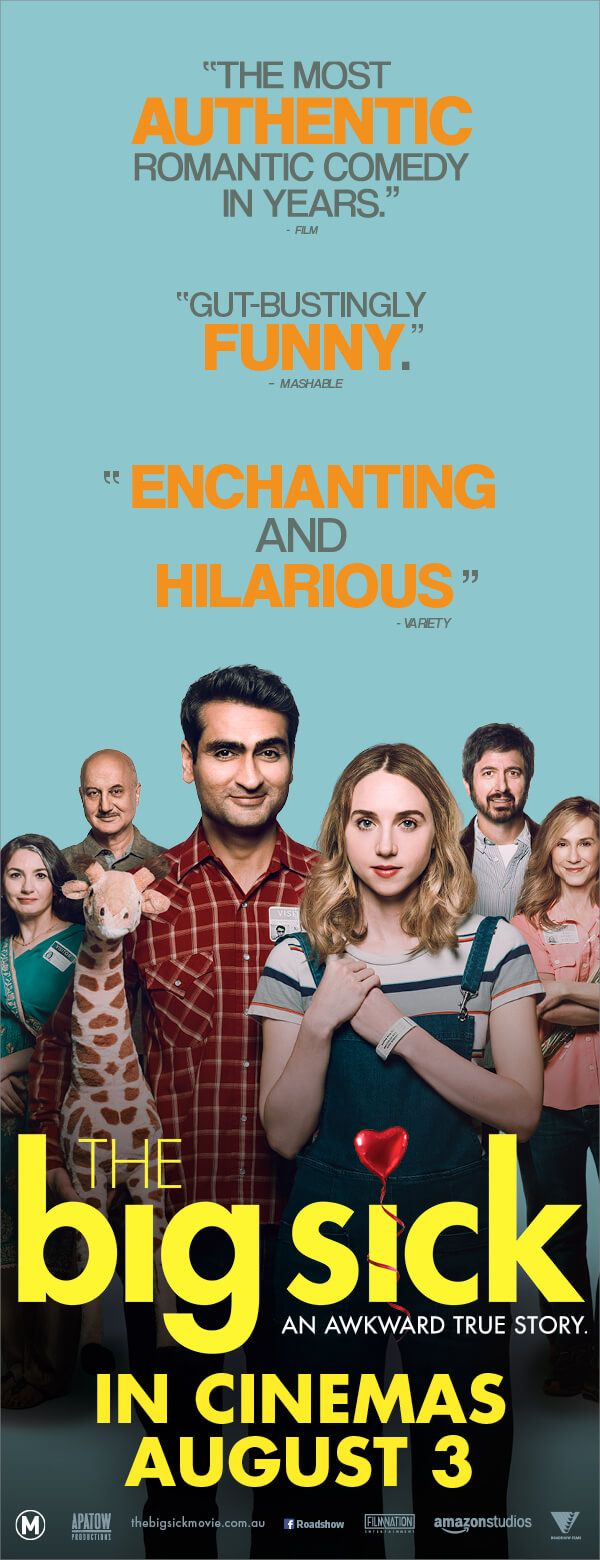 The awkward romantic comedy critics can't get enough of #TheBigSick In Cinemas August 3