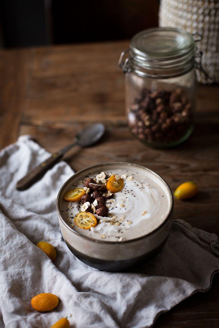 Banana Smoothie bowl - kokosovo banánové bezlepkové vločky