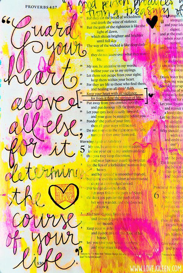 Love, Joleen: My Favorite Bible Journaling Supplies + A New Layout