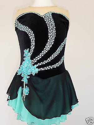 BEAUTIFUL FIGURE ICE SKATING DRESS - CUSTOM MADE TO FIT