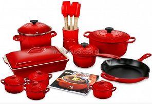 Le Creuset cookware set Red 20-częściowy zestaw garnków Le Creuset  CHERRY