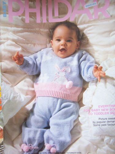 Phildar-Mailles-Knitting-Booklet-No-160-Baby-Layettes-Newborn-Toddler-Patterns