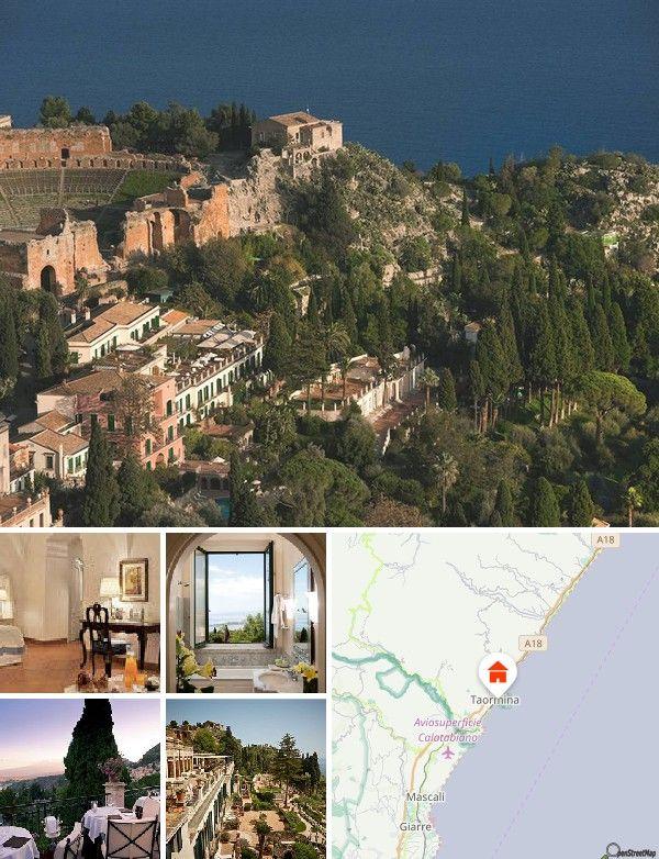 Situé dans le centre-ville, juste à côté du théâtre grec, cet établissement est le meilleur hôtel de Taormina. Niché dans un parc s'étirant sur 25000 m², il donne sur l'extraordinaire Etna, la mer et le théâtre grec. Compter 50 km pour rejoindre l'aéroport de Catane - Fontanarossa et 270 km pour l'aéroport international de Palerme. Ses clients séjourneront à proximité de nombreux restaurants et bars, ainsi qu'à 10 min en voiture de l'aéroport de Taormina - Giardini et de Castelmola.
