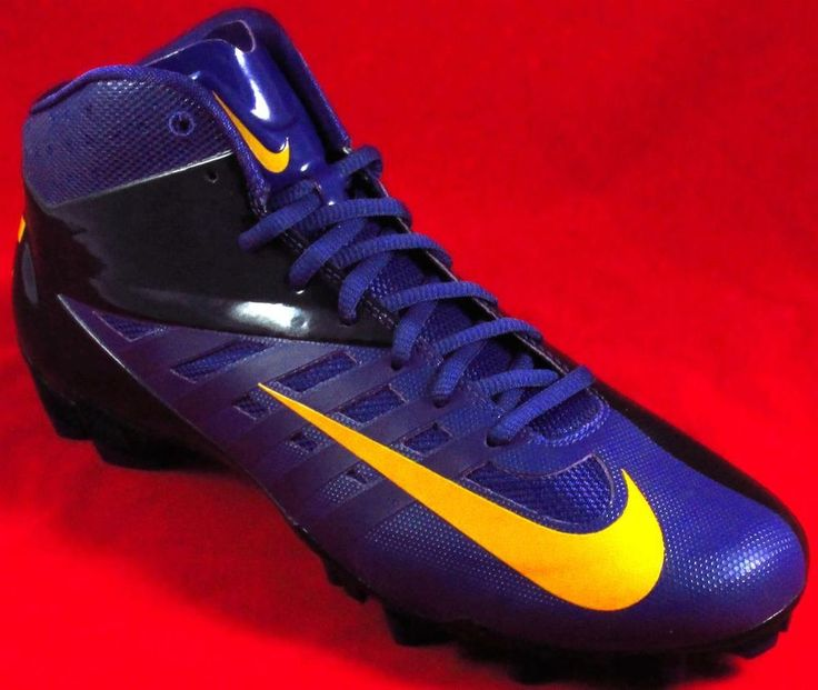 nike ball boot blue and red baseball cleats