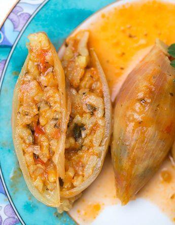 Gefüllte Zwiebeln nach türkischer Art - vegan & glutenfrei