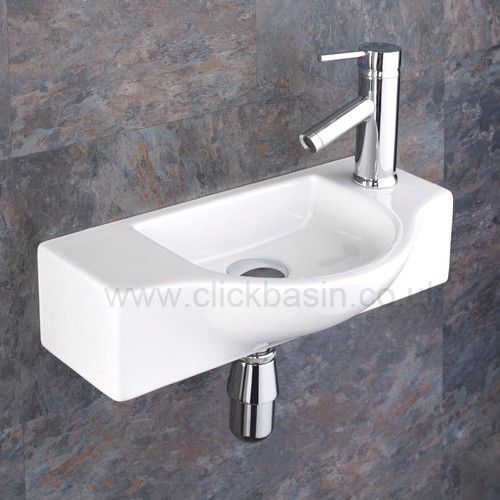 Viterbo Space Saving Ceramic Wash Basin Sink