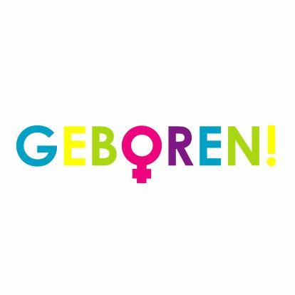 Kleurrijke geboortekaart meisje - Geboortekaartjes - Kaartje2go