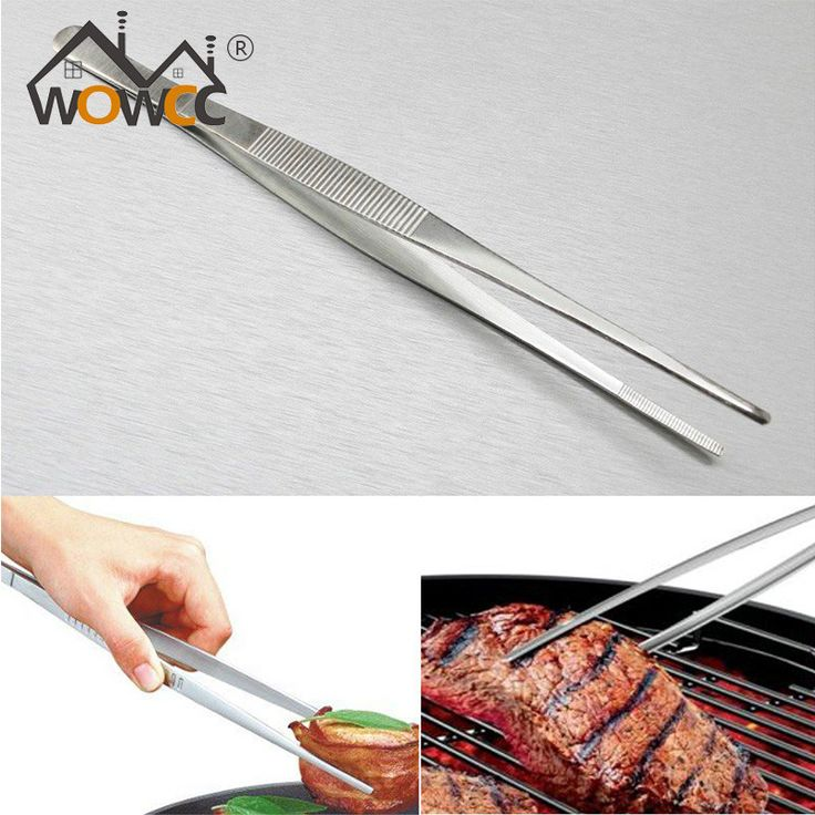Barbecue Tongs Food Tongs Food Clip Kitchen With Stainless Steel Tweezers Plastic Clip Barbecue Buffet Restaurant Tool Tea Tool