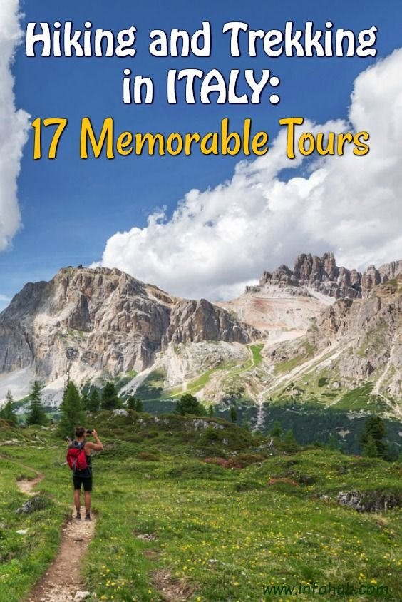Hiking and Trekking Tours in Italy. If you'd rather watch it live than on TV, wandering out in the woods than browsing the Internet, then hiking & trekking is something for you to consider! Come prove yourself a real nature lover, not a couch potato, and enjoy some of the Hiking/Trekking tours presented here!