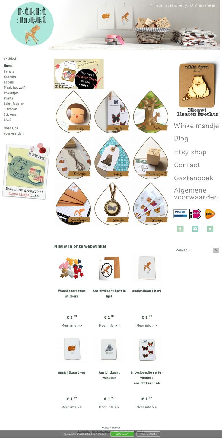 Nikki Dotti: voor mooie illustraties, kaarten, stempels, stoffen en meer. Ik ben verliefd op het hertje! #webshop www.nikkidotti.nl