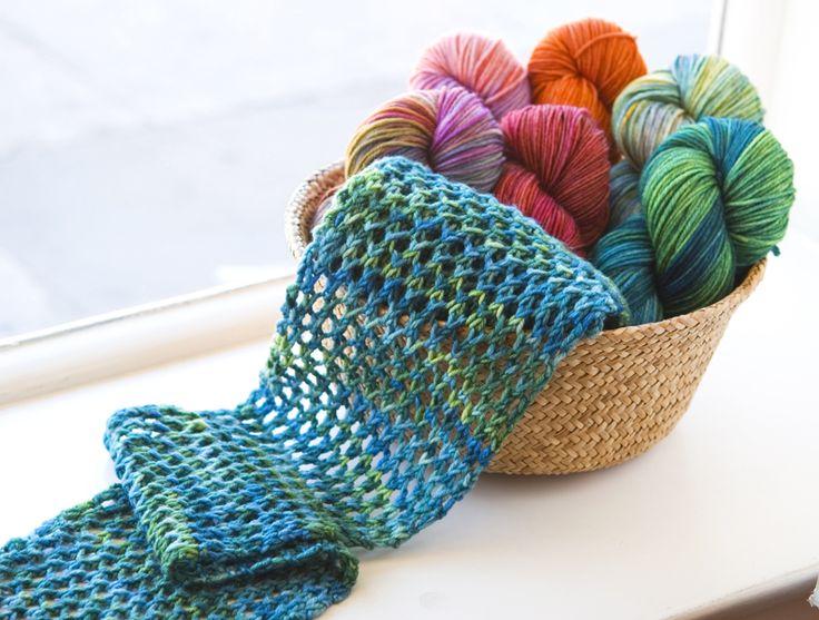 easy trellis lace scarf