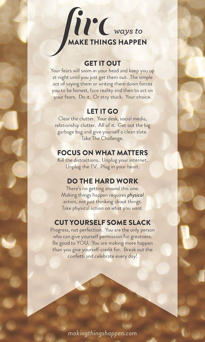 five ways to make things happen | lara casey