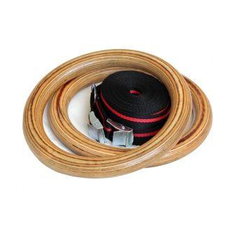 Кольца гимнастические WORKOUT K2 деревянные фото