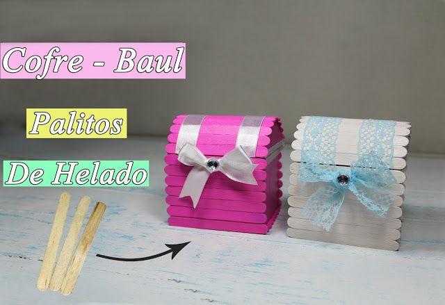 manualidades herme: Manualidades con palitos de helado cofre o baúl