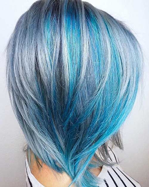 Short Blue Hair - 16