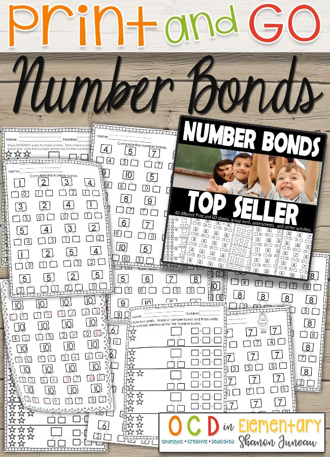These math printables that cover number bonds are the perfect addition to your classroom.  You can use this product all year long, and it's sure to help students with missing addends.