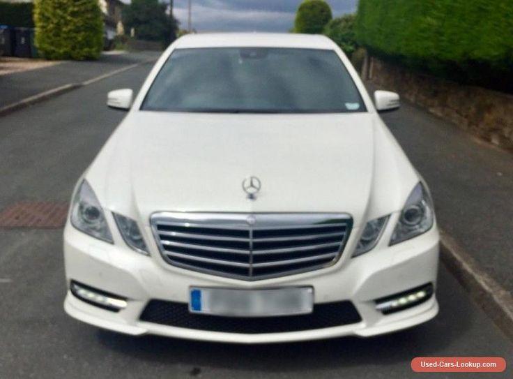 2012 12 Mercedes E220 cdi AMG Sport Auto Pearl White SatNav StartStop e250 e350 #mercedesbenz #e220 #forsale #unitedkingdom