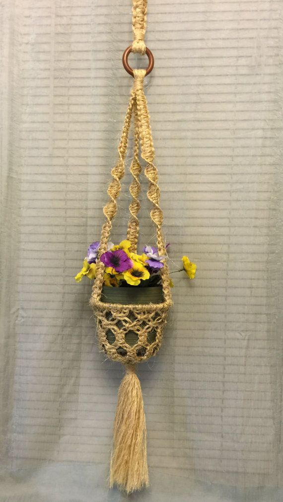 MACRAME PLANT HANGER Single sisal