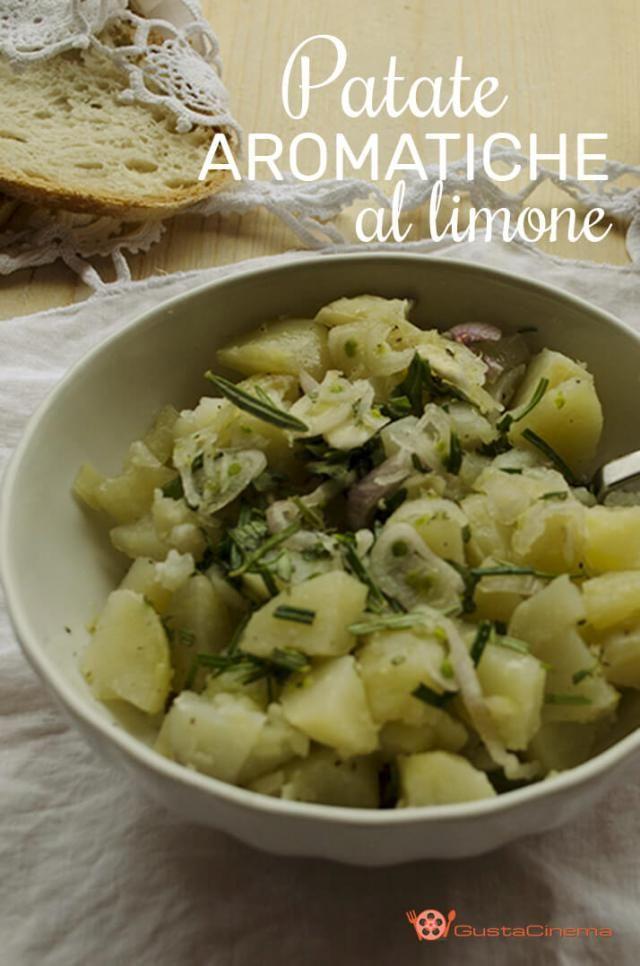Patate aromatiche al limone un contorno fresco e profumato. Una ricetta semplice e veloce per preparare le patate.