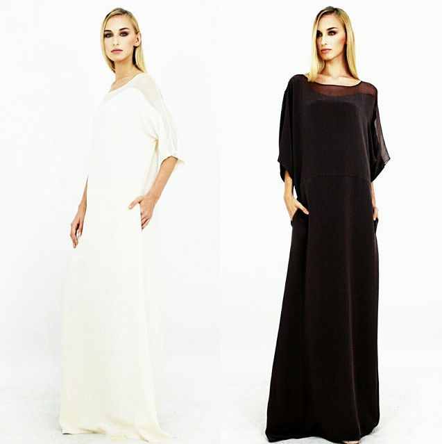 (Look 4) Crepe silk tunic with sheer shoulder panels  #aliabastamam #raya2015 #lookbook