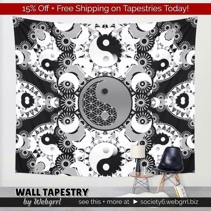 15% Off  Free Shipping on Tapestries Today! at #society6 / WALL TAPESTRY / by Webgrrl . see this  more at  society6.webgrrl.biz  . #madebyme this month - Yin Yang mixed with Sacred Geometry #Yoga #balance in black and white Wall Tapestry for home or studio . . .#yinyang #symbolism #geometry #yoga #balance #meditation #yogalife #sacredgeometry #mandala #energy #healing #homedecor #wallbanner #walltapestry #wallhanging #mydesigns #blackandwhite