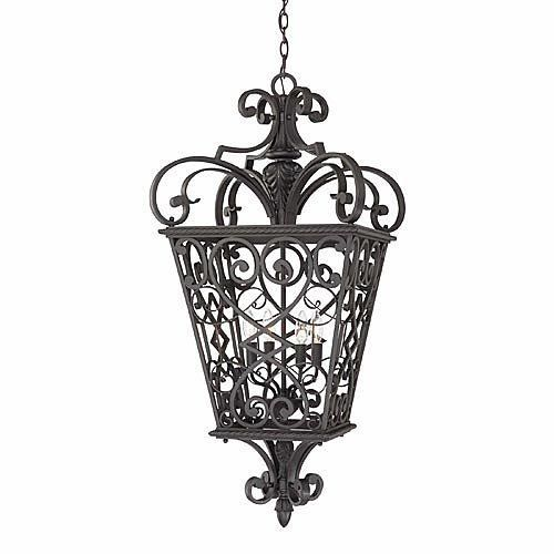 Quoizel French Quarter Outdoor Hanging Lantern QZ-FQ1920MK01 by Quoizel Lighting. $749.99. Free Shipping. Shown in Marcado Black Finish. Comes with 4 60-watt Candelabra Base bulbs. Overall size: 19 in. W x 19 in. D x 41 in. H
