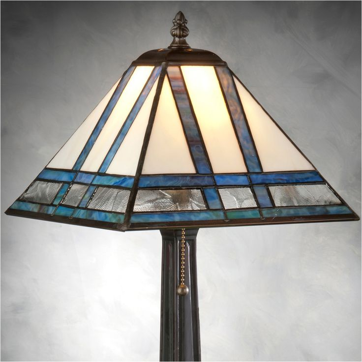 J Devlin Table Lamp 380, Mission Style Stained Glass Table Lamps View All J.