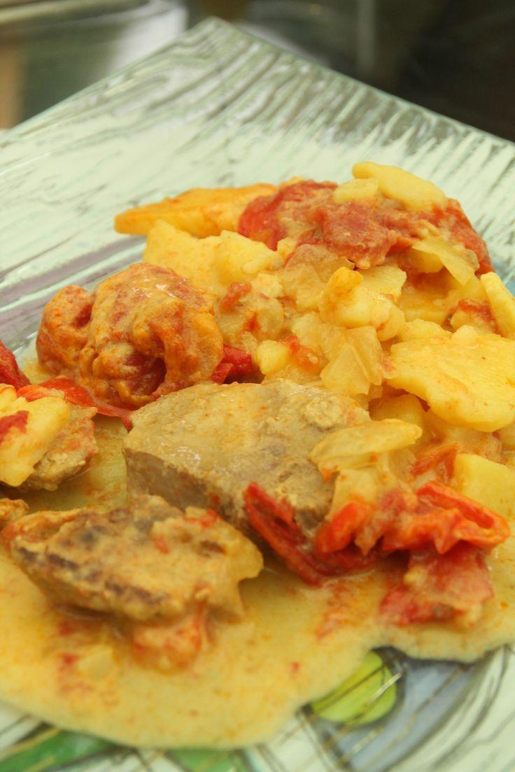 Filet mignon coco curry