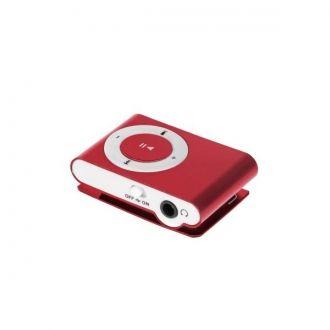 Lekki i przenośny odtwarzacz MP3. Urządzenie nie posiada pamięci wbudowanej, za przechowywanie utworów odpowiada czytnik kart microSD do 32 GB. Urządzenie zostało wyposażone w praktyczny klips umozliwiający zamocowanie odtwarzacza, np. do paska. Urządzenie obsługuje odtwarzanie plików MP3.  Produkt w kolorze bordowym.