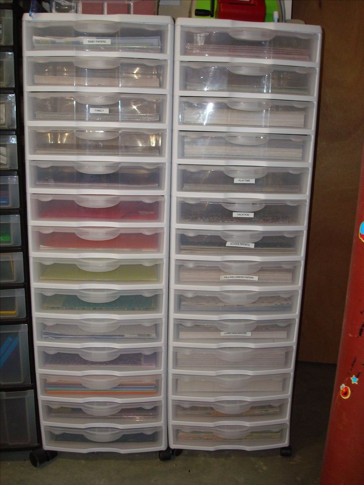 Best 25 scrapbook storage ideas on pinterest scrapbook for Craft paper storage ideas