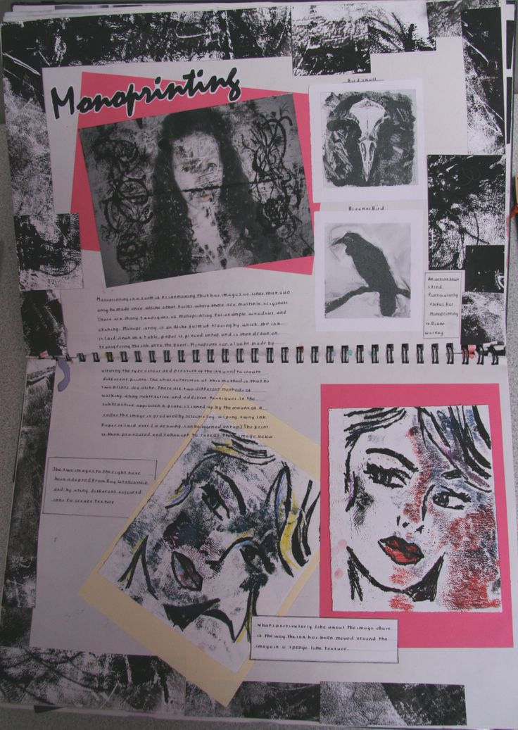 Writing about art gcse sketchbook