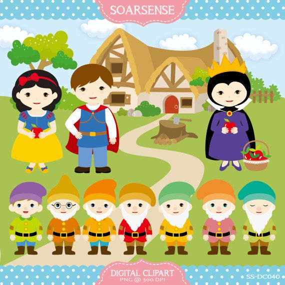 Snow White Clipart by soarsense on Etsy,
