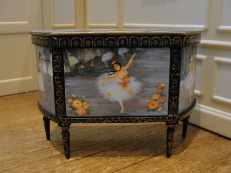 SALE : Dollhouse Miniature Hand-Painted Console - Renee Isabelle - Magnificent | eBay