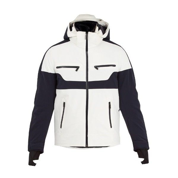 Fusalp Carlo bi-colour ski jacket (660 CAD) ❤ liked on Polyvore featuring men's fashion, men's clothing, white multi, mens ski apparel, off white mens clothing, 1980s mens clothing, 80s mens clothing and native american mens clothing