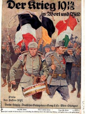 War Poster for Germany and Austro-Hungarian Empitres