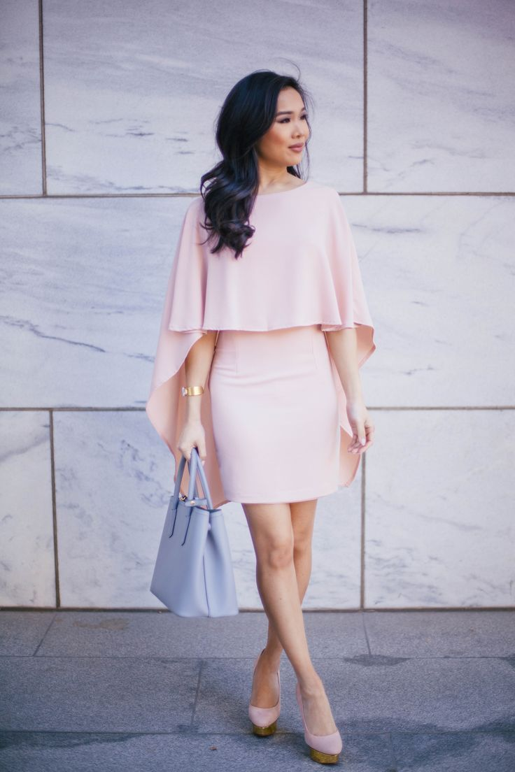 Elegant cape dress