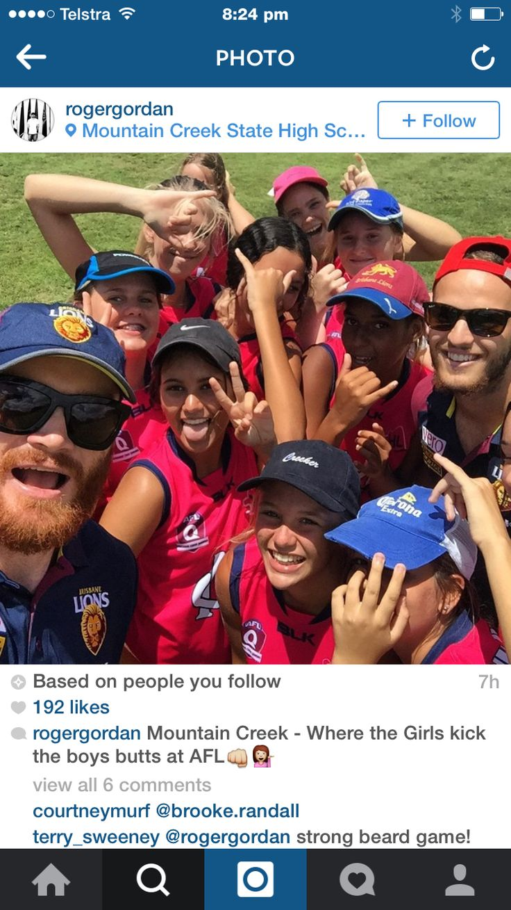 #CommunityCamp with the Lions getting involved with officially opening the AFL facility at Mountain Creek SS celebrating everything youth girls footy #girlsplaytoo