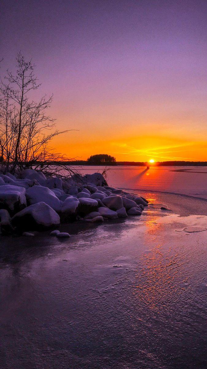 خلفية غروب الشمس Sunset Image We Heart It