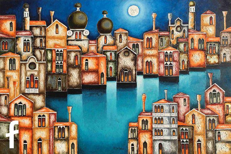 Elio De Pasco olio su tela - artista contemporaneo nuova figurazione