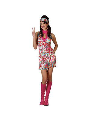#Ladies hippie go go girl 1960s 70s hippy fancy #dress costume (uk #sizes 6-28) b, View more on the LINK: http://www.zeppy.io/product/gb/2/201119433862/