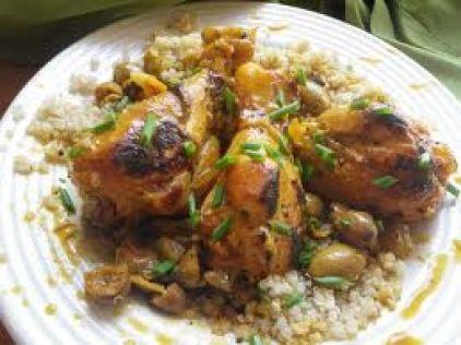 Περσικό κοτόπουλο με αρώματα πορτοκαλιού, σαφράν και ξηρούς καρπούς - gourmed.gr