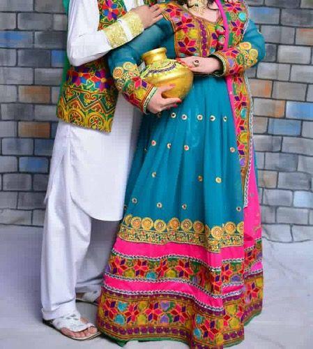 #afghan #tradition #wedding #cloths #couple