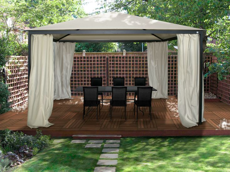 Easy Steps To Build A Garden Gazebo From Metal As The Main Material
