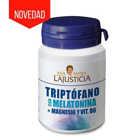Nuevo Triptófano con Melatonina + Magnesio + Vit. B6 de Ana María Lajusticia que mejora la calidad del sueño y refuerza el sistema inmunológico, disponible en https://www.body-vip.com/vitaminas-y-minerales/triptofano-con-melatonina-magnesio-vit-b6-60cap-ana-maria-lajusticia.html