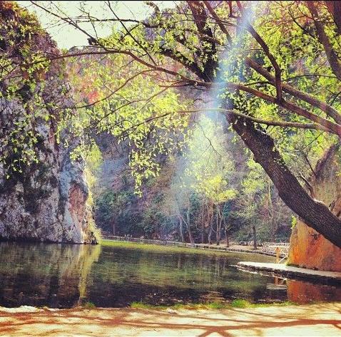 El lago de los espejos (Monasterio de Piedra)